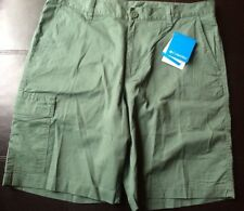 NWT Columbia Dog Lake Cargo Shorts Mens Size 34 X10 Green Y1