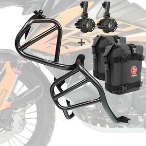 Set Sturzbügel + Scheinwerfer für KTM 790 Adventure/ R 19-21 + K3 schwarz