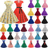Womens Vintage 50s 60s Rockabilly Swing Dress Evening Cocktail Party Size 8-16