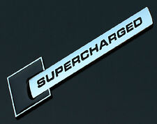 SUPERCHARGED Black Emblem Logo Decal Sticker Badge Front Rear Side Audi Metal