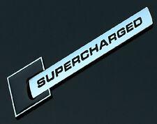 SUPERCHARGED Black Emblem Logo Decal Sticker Badge Front Rear Side Audi Metal