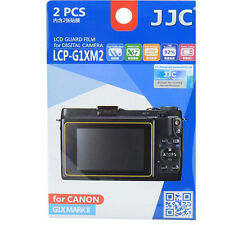 JJC LCP-G1XM2 polycarbonate LCD Film Screen Protector For Canon G1XII   2 Pack