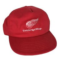 VTG 90s Detroit Red Wings Snapback Cap Hat NHL Hockey Embroidered Made in USA