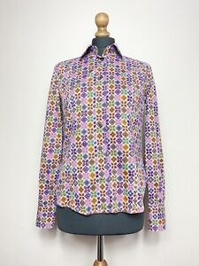 Etro Milano Long Sleeve Floral Flowers Shirt Size 42