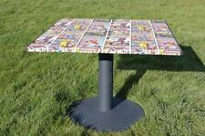 Marvellous!  Unique Square Kitchen / Dining Pedestal Table - Marvel Super Hero's