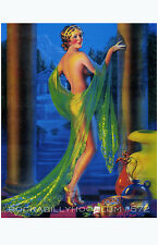 Pin Up Girl Poster 11x17 exotic flapper maiden dame art deco