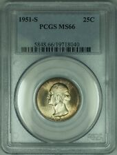 1951-S Washington Silver Quarter 25c PCGS MS66 Original Toned Gem  (30)