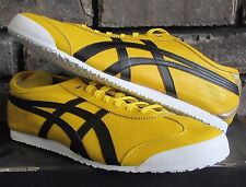 mens new boxed asics onitsuka tiger mexico 66 Yellow leather trainers size uk 11
