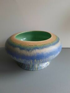 Shelley Rose Bowl, Harmony Dripware, 18cm wide, Art Deco style