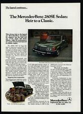 1977 MERCEDES-BENZ 280SE Green Luxury Car - Sedan - 280 SE - VINTAGE AD