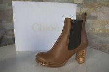 CHLOÉ CHLOE Stiefeletten Gr 36 Stiefel Booties Schuhe shoes brown NEU UVP 675 €