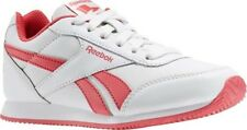 99p Start Reebok Classic Girls White Royal Cljog 2 Trainers Size 4.5