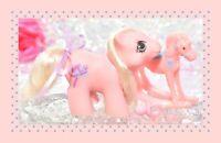 ❤️My Little Pony MLP 1987 G1 Vintage Newborn Twin STICKY Pink Baby Hobby Horse❤️
