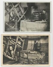 Two Different Postcards, The Great Well & Draw Wheel, Carisbrooke Castle, I.W.