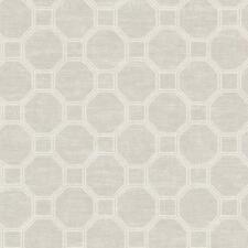 Wallpaper Designer Cream Geometric Trellis on Cream & Pale Gray Faux