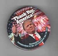 #16  2017 pin DONALD TRUMP pinback INAUGURATION  THANK You AMERICA ! January 20