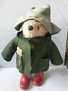Gabrielle designs paddington bear with Coat, hat and red dunlop wellys #504