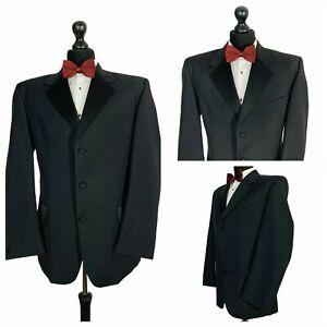 Mens Tuxedo Dinner Suit Jacket Chest 42 Black Evening Formal Cruise Wedding P127