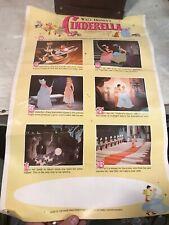 Walt Disney's Cinderella Advertising Poster Buena Vista Productions Movie 14x22