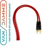 Pair Van Damme Neutrik Rean RCA Phono to RCA Phono Lead OFC Silver Plated Cable