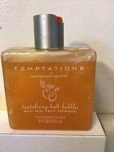 Victoria's Secret Temptations Sunripened Apricot Tantalizing Bath Bubbles 8 oz
