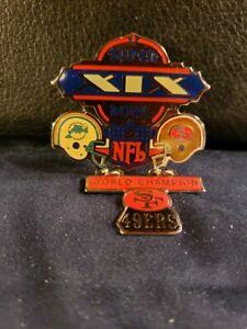 NFL Super Bowl XIX San Francisco 49'ers Championship Pin (New/Unused)