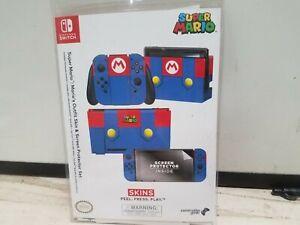Nintendo Switch Joy-Con Super Mario: Mario's Outfit Skin & Screen Protector Set