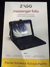 ZAGG Apple-iPad 10.5 Keyboard-Messenger Folio-Charcoal ... FREE SHIPPING ... B4