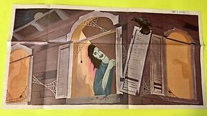 Peabody Poster 1965 Strange Creature Out Of Box & Old Lady Window Halloween