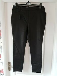 Next Black Leather Look Leggings Size 18 Brand new
