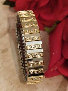 Statement bracelet Wife Jewelry Gold 24k Gift Swarovski Braclet Silver 1.75ct HM