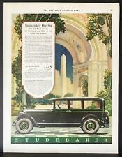 1927 Studebaker President Big 6 Sedan World Records Obelisk Arch Vintage Ad