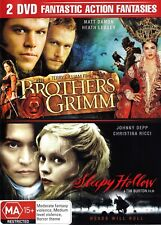 BROTHERS GRIMM / SLEEPY HOLLOW (2 DVD) R4 JOHNNY DEPP HEATH LEDGER ***