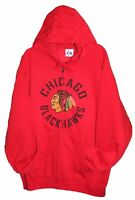Chicago BLACKHAWKS NHL MAJESTIC HOODIE JACKET Men's Large
