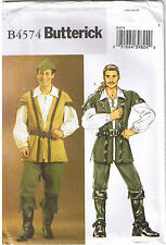 Robin Hood Merry Wodsman Men Pirate Butterick Costume Sewing Pattern S M L 34-44