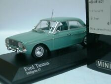 WOW EXTREMELY RARE Ford Taunus P5 20m V6 Saloon 1967 Green 1:43 Minichamps-GT/RS