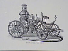 "OLD ORIGINAL  FIRE TRUCK PRINTS Of A "" MODERN DOUBLE AHRENS ENGINE"""