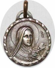 S7562 Médaille Vierge Marie Basilique de Lisieux  800 Argent  Silvered