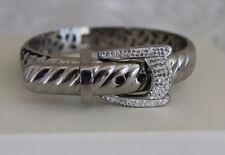 Buckle Bangle - Nwot Steel By Design Adjustable Crystal