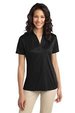 Womens Dri Fit Polo Ladies Golf Shirt Moisture Wicking PortAuthority L540 XS-4XL