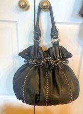 Lockheart Genuine Leather studded large Straw  Basket Bag