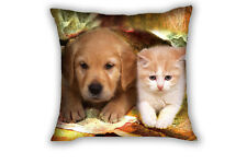 Cat and Dog Square Throw Pillow Case Cushion Cover Sofa Home Bed Decor 43*43cm