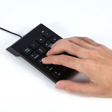 Hot USB 2.0 18 Keys Mini Keyboard Pad Numpad For Laptop/PC Numeric Keypad Black