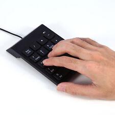 Hot USB 2.0 18 Keys Mini Keyboard Pad Numpad For Laptop/PC Numeric Keypad Black
