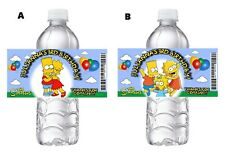 20 THE SIMPSONS PERSONALIZED BIRTHDAY PARTY WATER BOTTLE LABELS WRAPPERS FAVORS