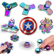 Finger Fidget Spinner Hand Focus Spin Aluminum EDC Bearing Stress Toys UK SELLER