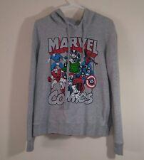 Marvel Juniors Size XL (15 - 17) Marvel Comics Print Gray Hooded Sweathshirt