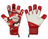 Football Goalkeeper Goalie GK Saver Camo Red Negative Cut Goalie Gloves Pro