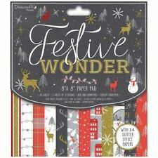DOVECRAFT PREMIUM PAPERS FESTIVE WONDER 8 X 8 SAMPLE PACK 12 SHEETS POSTAGE DEAL