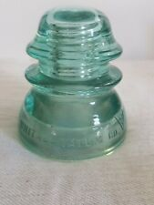 Whitall Tatum Co. No. 1  Aqua Glass Insulator Made in USA